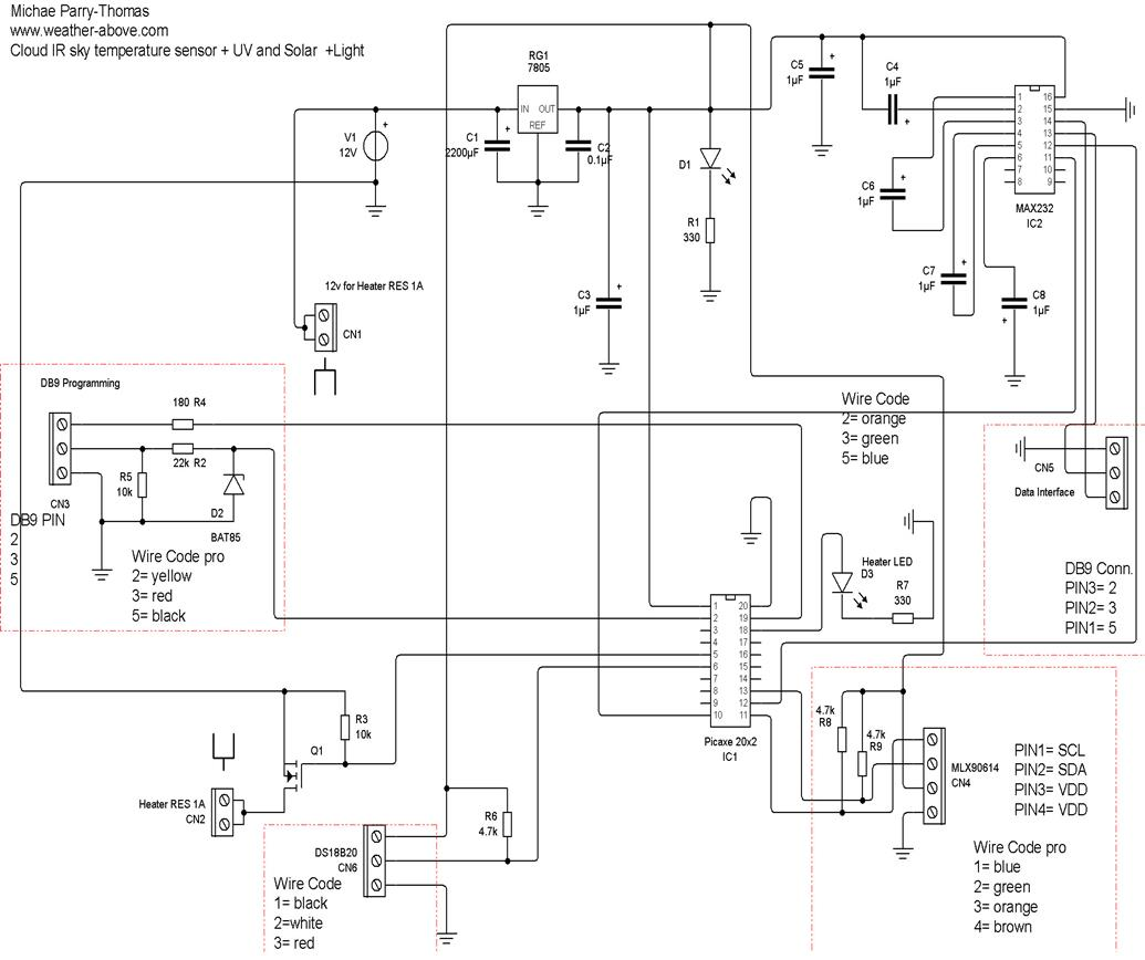 How To Make A Sky Infrared Sensor With Add On Modules Build Ir Detector Circuit Diagram Schematic Artwork Board Where Redrawn From Diagrams Supplied By Niko Of Weather Watch Functional Test Programmes